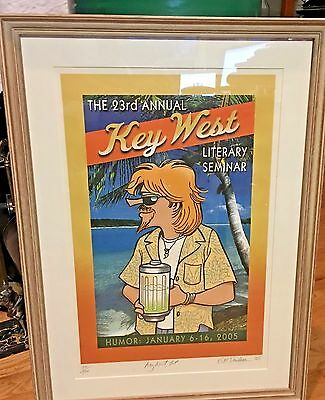 Gary Gb Trudeau Doonesbury Humor Poster Key West Lit Seminar Signed Dated 05 Le