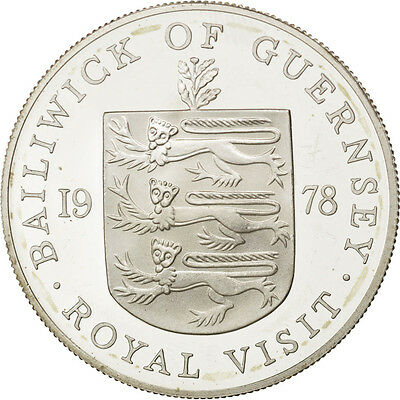 [#88679] GUERNSEY, 25 Pence, 1978, KM #32a, MS(63), Silver, 38.5, 28.26