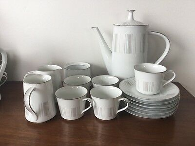 Noritake Isabella classic MCM design china coffee set, made in Japan vintage 60s