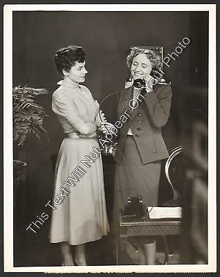 "1952 Margret Halbert and Truman  ""RCA Victor Show"" Vintage NBC TV 7x9 Photo"