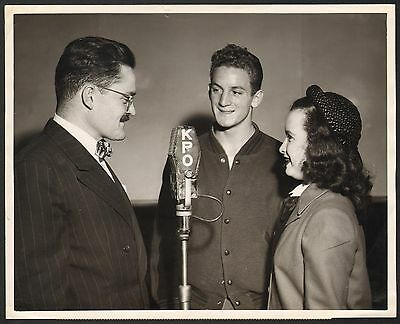 "Vintage KPO-NBC Radio ""TEEN TALK"" 8x10 Photo Newton Polytechnic Football 2"
