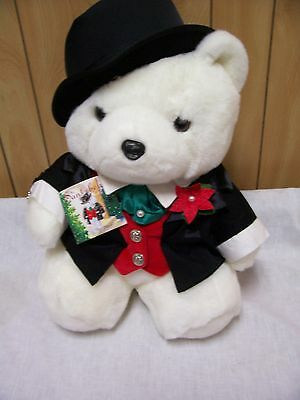 "16 "" Tall Mr Groom Santa Bear 2000 Dayton Marshall Fields w/Tux! FREE Shipping!"