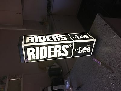 Riders by LEE  illuminated sign