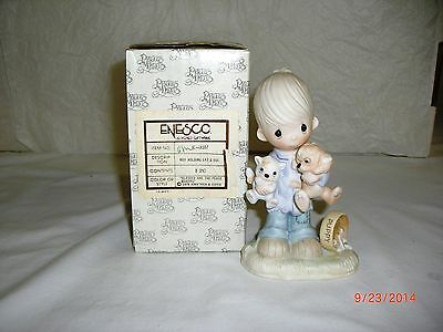 Precious Moments, 3107, Blessed Are The Peace Makers, No Mark, Black & White Box