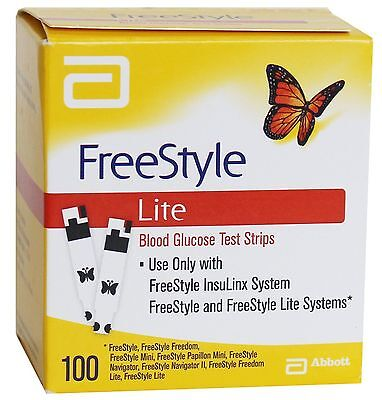ABBOTT FREESTYLE LITE TEST STRIPS (100 Strips) Expiry October 2018