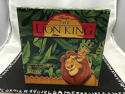 "Disney The Lion King Music Box 1994 Schmid Simba Nala ""I Can't Wait To Be King"""