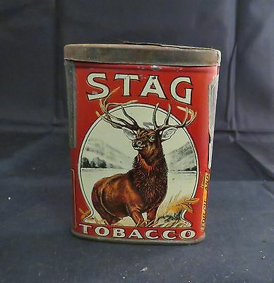Vintage Stag Tobacco Pocket Tin