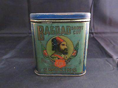 Vintage Bagdad Short Cut Pipe Tobacco Pocket Tin