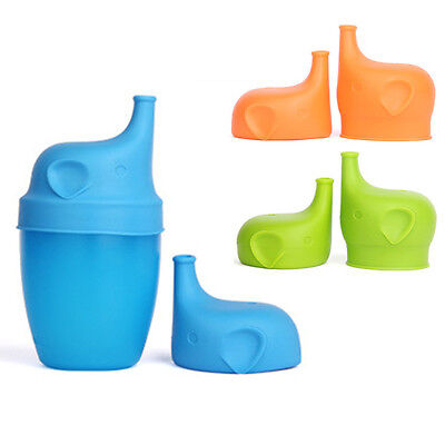 Food Grade Silicone Kids Baby Sippy Lids - Make Most Cups a Sippy Cup Leak Proof