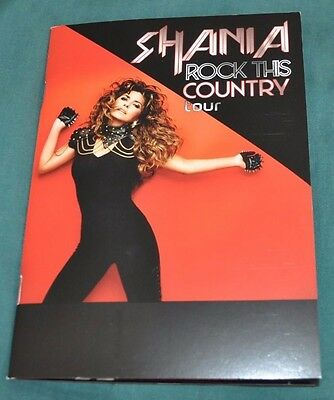 Shania Twain Rock This Country Tour Exclusive VIP Photo Book/Program + Free CD!