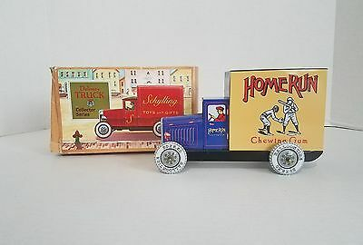 Schylling 1993 Reproduction Tin Home Run Chewing Gum Delivery Truck