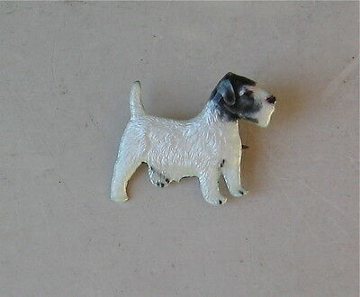 Vintage Enameled Silver Sealyham Terrier Full Body Pin Kenart England