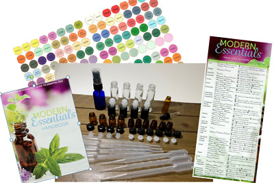 248 Piece Essential Oil Roll On Vials,Spray Bottle, doTERRA Labels,  Book Guide
