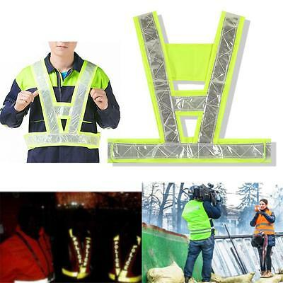 HI Vis Yellow Waistcoat Safety Reflective Vest Jacket Cycle Jogging Motorbike BS