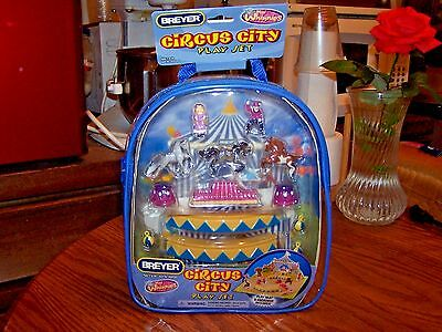 Breyer Horse New In Box Mini Whinnies Circus City Backpack Play Set