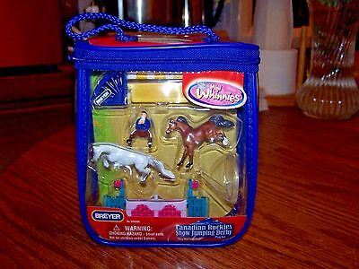 Breyer Horse New In Box Mini Whinnies Canadian Rockies Show Jumping Play Set