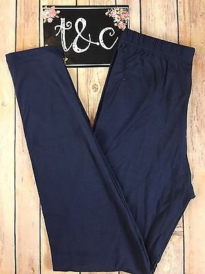 NWT TC Dark Navy Leggings Tall Curvy fits size 12-18 Buttery Soft (See Desc.)