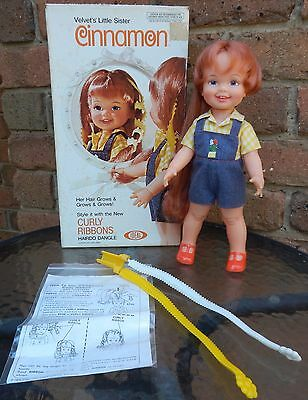 Vintage Ideal Crissy CURLY RIBBONS CINNAMON Doll with Box Hair Dangle & Instruc