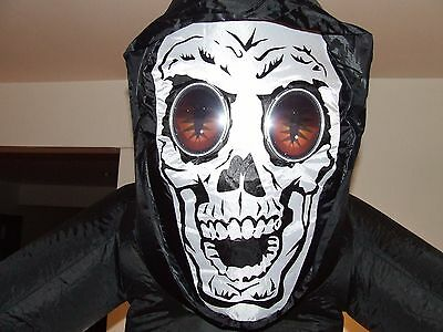 Halloween Inflatable  Animated Reaper 7 Feet Tall  Eyes Open And Close