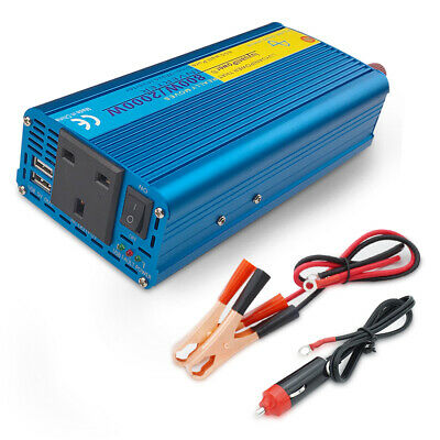 1200w 2400w DC 12V to AC 230V pure sine wave power inverter car converter trip