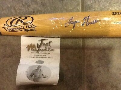 2011 Just Minors Logan Morrison Authentic Auto Mystery Bat-ON PACE FOR > 40 HRs!