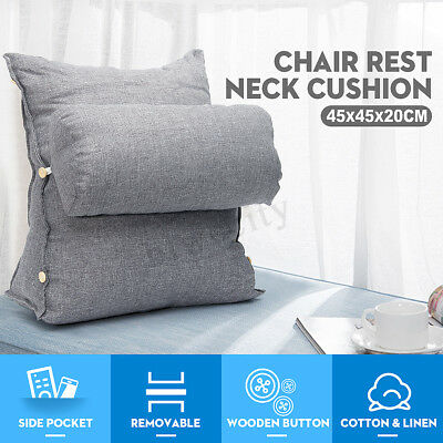 Adjustable Sofa Bed Chair Office Rest Neck Support Back Wedge Cushion Fip Pillow