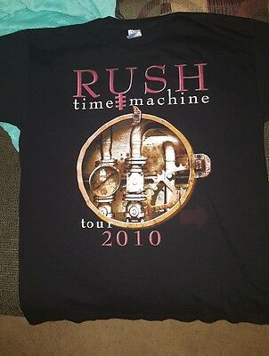 Original Rush Time Machine tour 2010  T-shirt size large