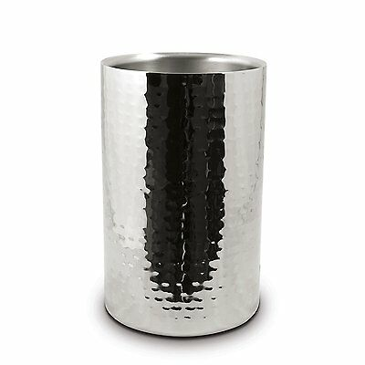 Stainless Steel Ice Bucket Wine Champagne Cooler Double Wall Hammered Finish