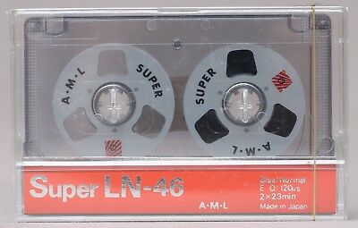 Genuine A.M.L. Super LN-46 Reel to Reel Style Cassette Tape *NEW SEALED*