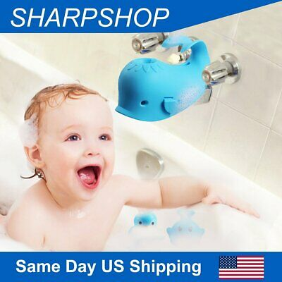 Baby Bath Spout Cover Bathtub Guard Whale Tub Faucet Cover Safety for Kids US