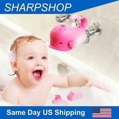 Baby Bathtub Spout Cover Faucet Cover Guard Protector for Kids and Toddlers Pink