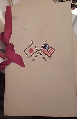 Historical important USA Japan dinner Menu1914,Hotel Sommerset,Boston