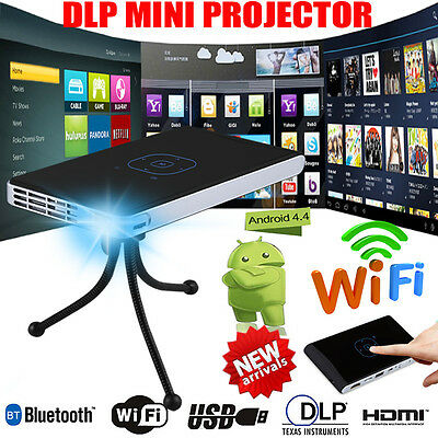 Mini LED DLP WIFI Android Bluetooth Pocket Projector Home Cinema HD 1080P USB