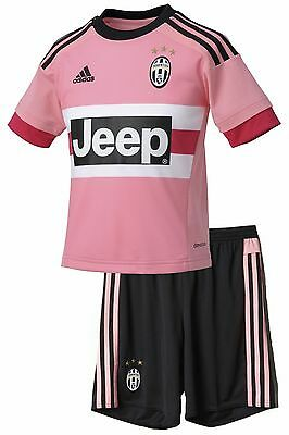 Football set Boy Official Adidas Away FC JUVENTUS 2015/16 rose scudetto