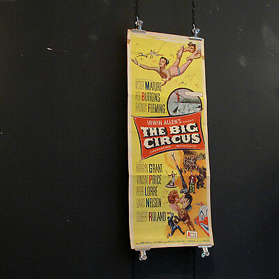 Vintage American Insert Movie Poster - The Big Circus 1959 - Victor Mature Film