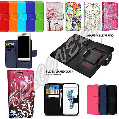 "Universal PU Leather Flip Wallet Money Card Case Cover For Vodafone 4.0-5.0""Inch"
