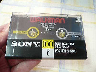 cassette tape vintage rare: Sony Walkman of Chrome  new and sealed