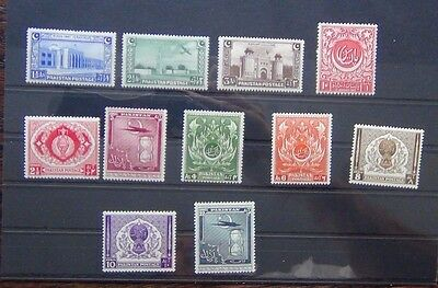 Pakistan 1948 Independence set 1951 values to 12A MM