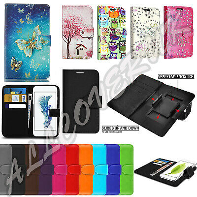 """NEW Universal Wallet Card Flip PU Leather Case Cover For 4.0""""-5.0"""" Nokia Mobiles"""