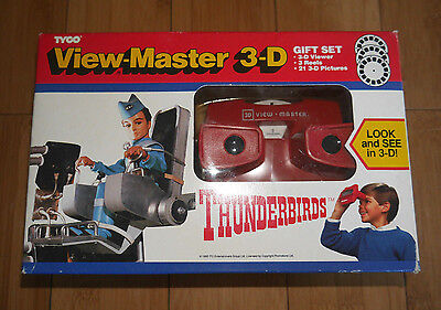 Mint / Unused Vintage Thunderbirds Viewmaster 3-D Gift Set Boxed 1992 Rare (355)