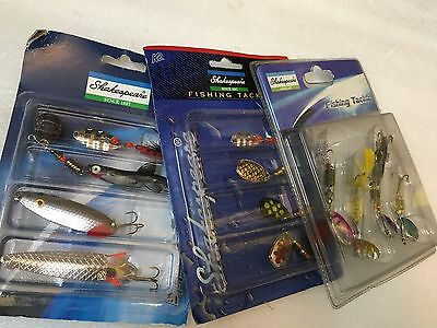 Shakespeare 3 Pack Spinner and lure selection 12 lures/spinners