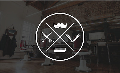 Barber Shop Window Sticker Barbers Display Vinyl Sign Hairdresser Decal