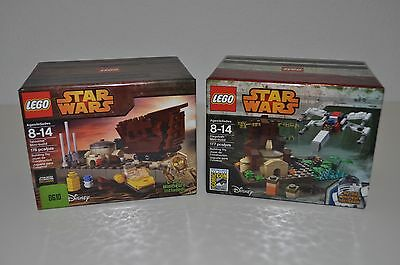 2 Lego Star Wars 2015 Mini Build Sets Sdcc Dagobah & Celebration Tatooine Sealed