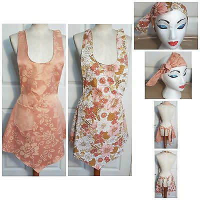 New full apron with headscarf one size 1940s dress 1940s fancy dress vintage