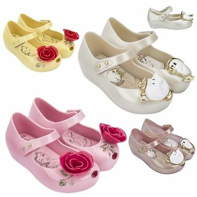 Beauty And The Beast Girls Kids Toddlers Princess Shoes Jelly Gel Sandals Ballet