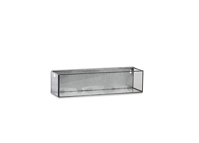 Ode Hanging Planter Antique Zinc and Glass Small by Nkuku