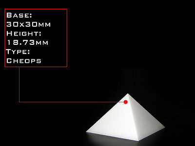 Orgonite Casting Giza Pyramid Mold, 30 X 30mm Base,  Self-Lubricating HDPE