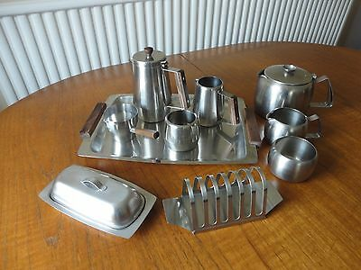 Vintage Retro   Stainless Steel Tea And Cofffee Set