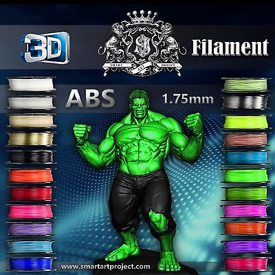 3D Printer Filament 1.75mm - net 1 Kg  ABS -22 Colours Fast Dispatch from London