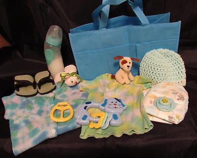 Reborn 0-3 mo  baby doll Complete Diaper bag doll bottle clothes toy pacifier